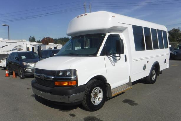 2011 Chevrolet Express G3500 6 Passenger Diesel Bus with Wheelchair Accessibilit