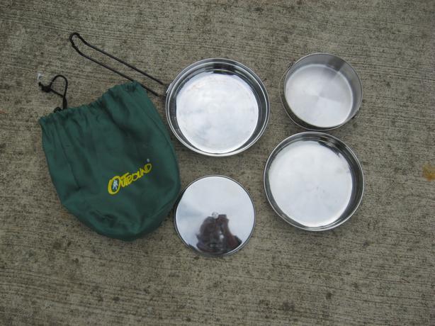 camping backpacking cooking eating kit bowl pan