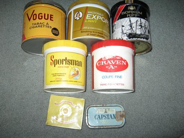 7 Vintage Tobacco Tins all for $10