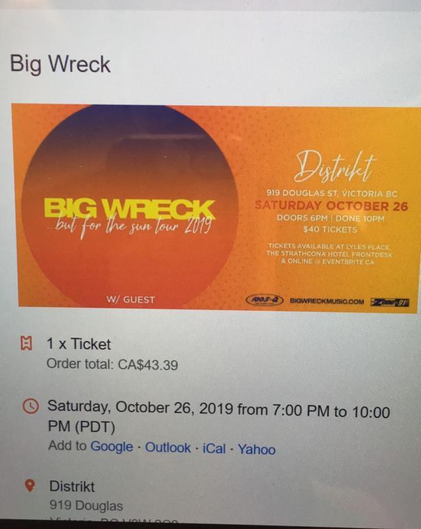 Big Wreck Ticket