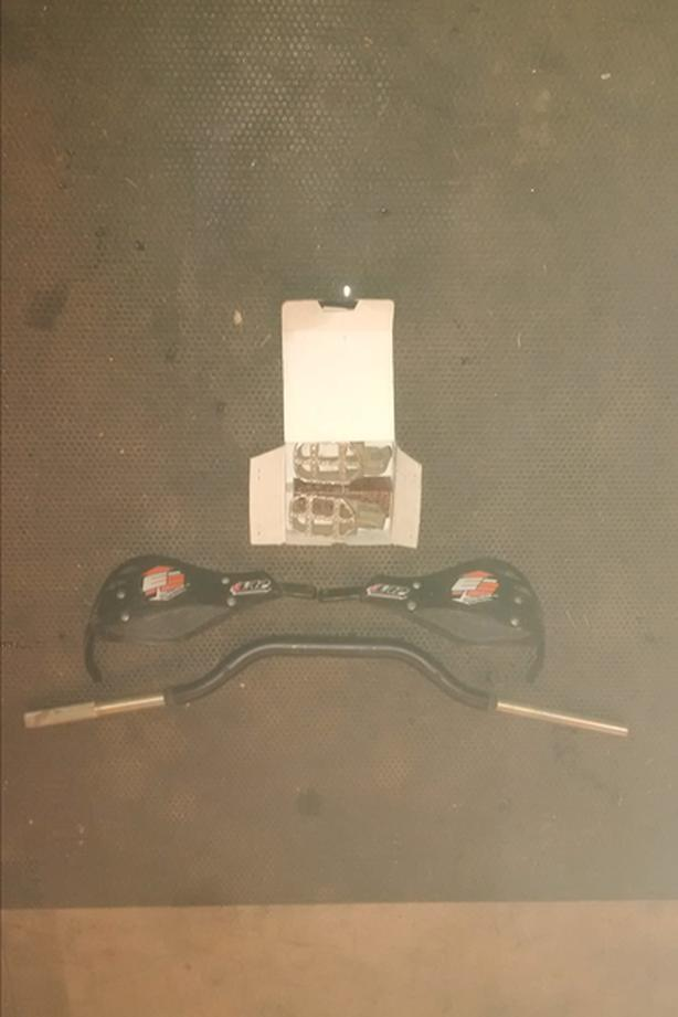 """KTM-- Renthal twin wall bars 1""""-1/8, EE hand guards, ProTaper 2.3 Pegs"""