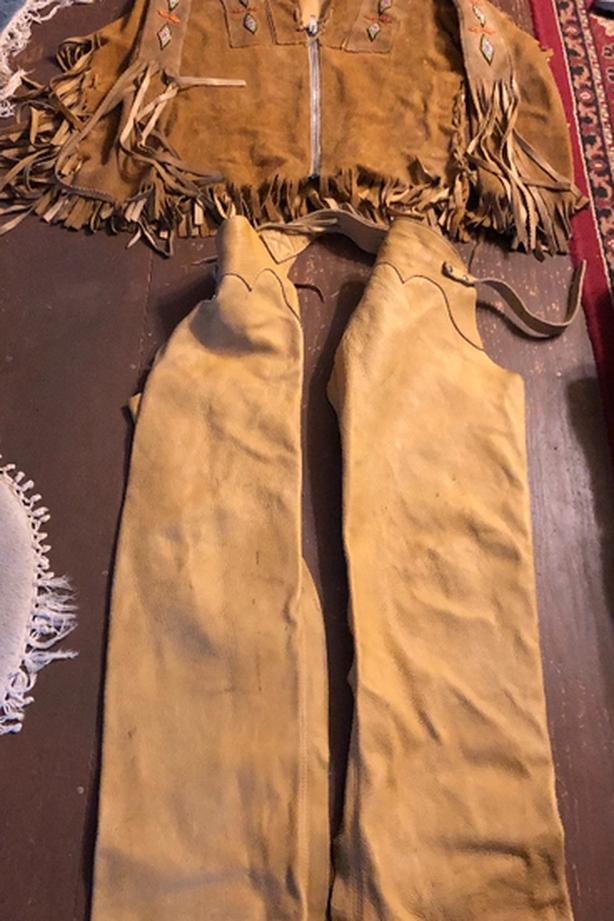 First Nation Beaded Jacket, Belt & Chaps