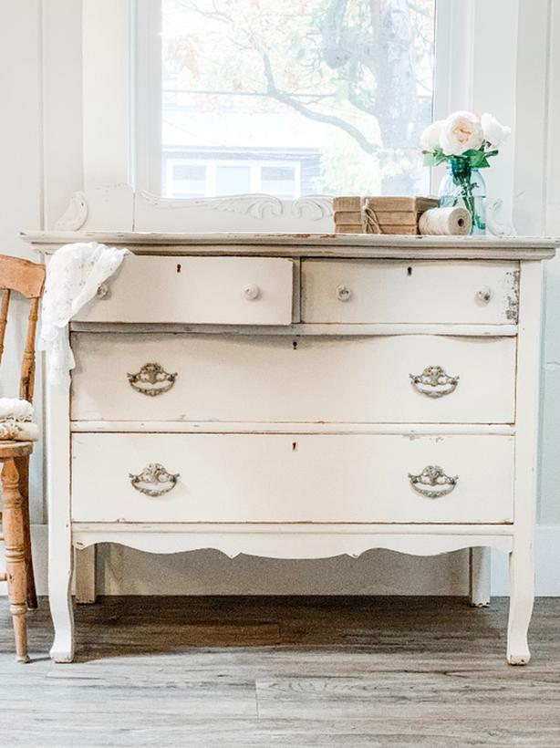 🕊Beautiful Antique Dresser Shabby Chic Sideboard