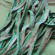 Beautiful Iridescent Green Fabric with Piping