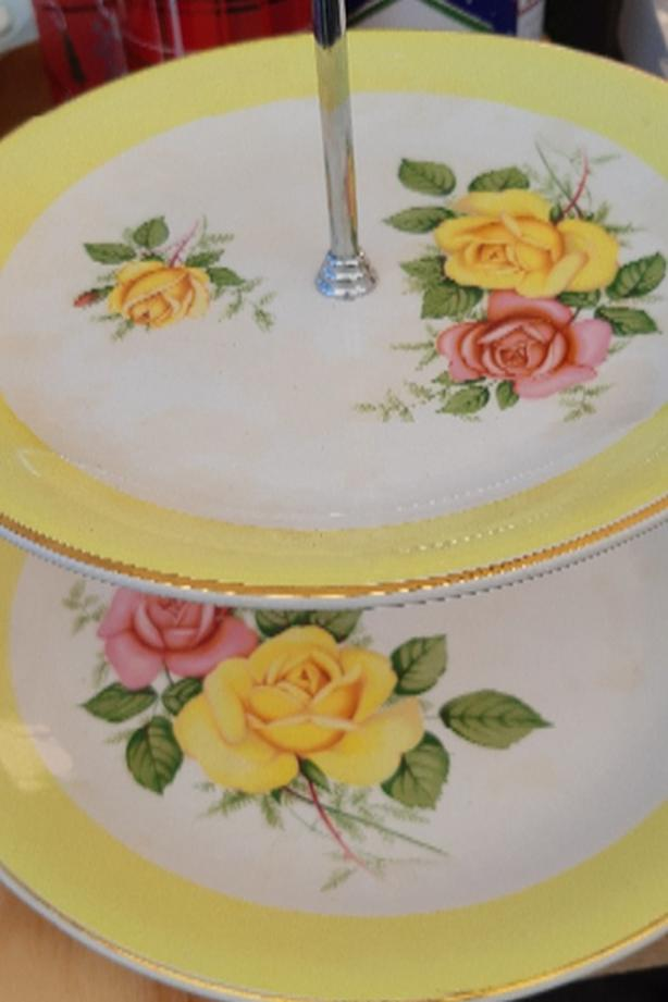Antique Pastry Serving Plates
