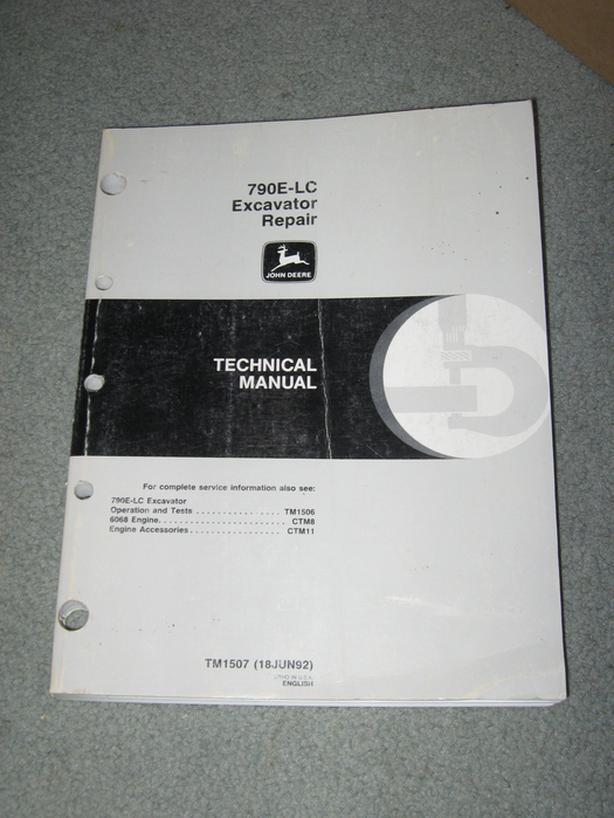 1992 John Deere 790E-LC Excavator repair manual