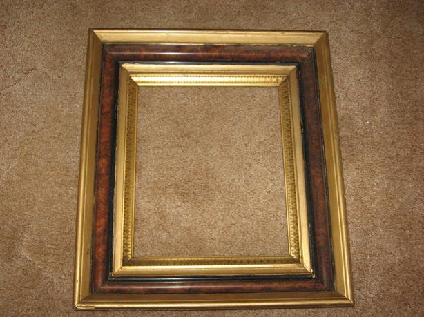 Vintage Gilt edged picture frame wood gold