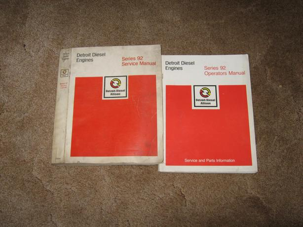 Detroit Diesel engines series 92 service manual  1981  1985