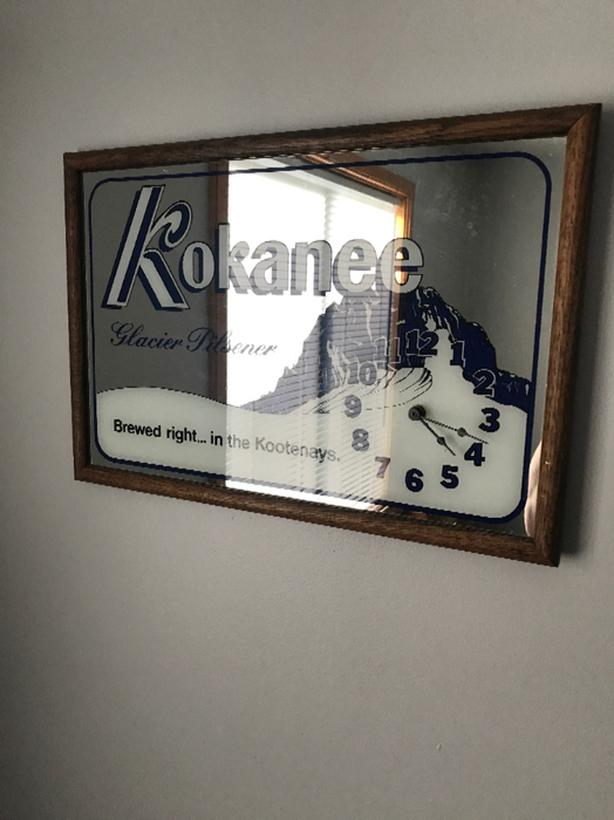 kokanee bar clock
