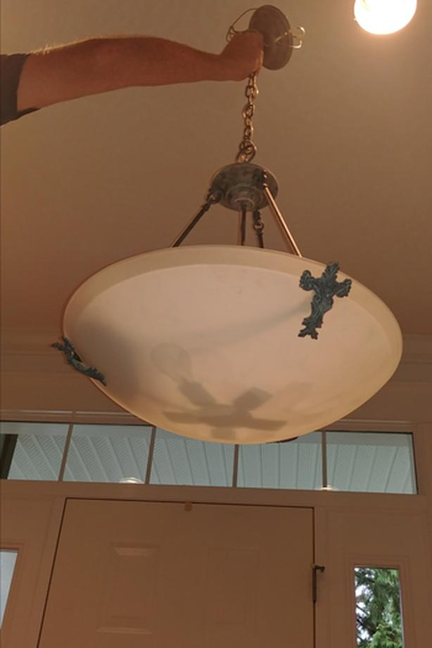 Frosted Glass Chandelier