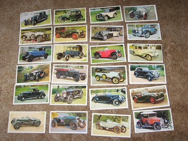 Vintage Car  cards bentley sunbeam vauxhall nash aston martin