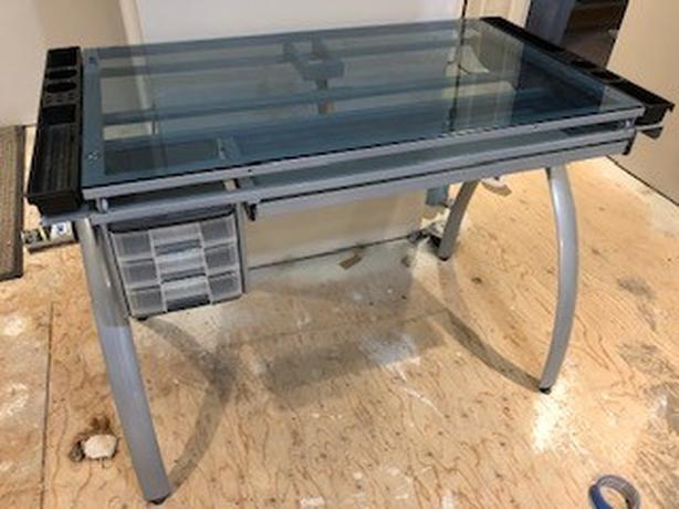 FREE: Glass Drafting Table