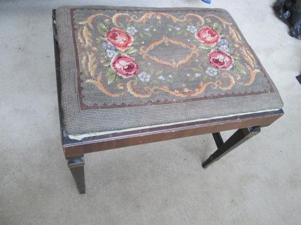 Victorian Embroidered Footstools