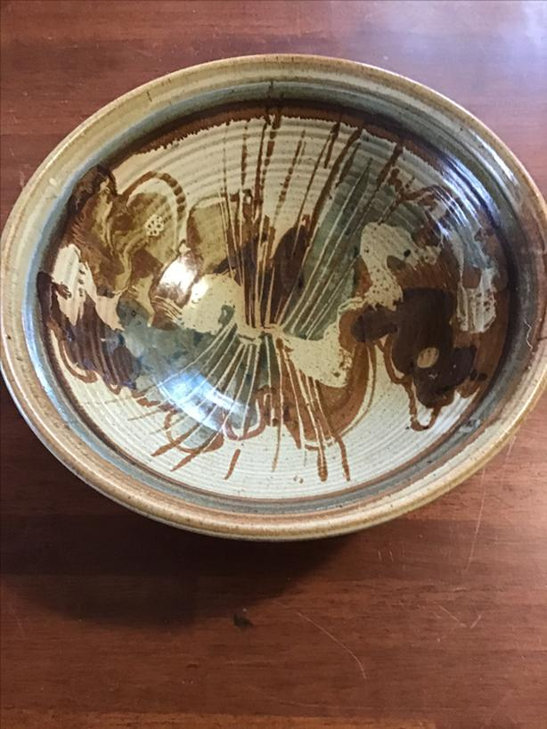 Large studio pottery bowl..need it gone today