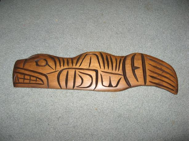 "First nations ""Seal"" cedar carving Chris carl Joseph"
