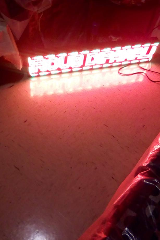 Programmable RGB (Triple Led) Scrolling, Adjustable Speed AD Sign