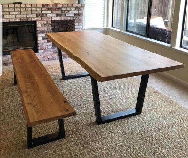 WANTED: Live edge table with bench
