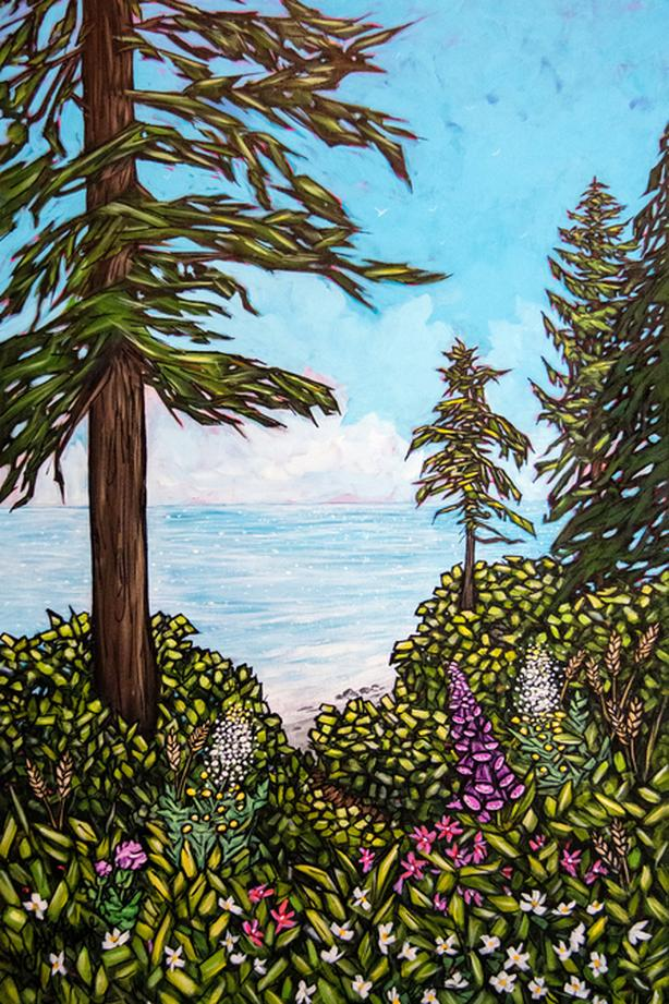 """A Mystical Place"" - Mystic Beach 2019 - Original Landscape Painting"