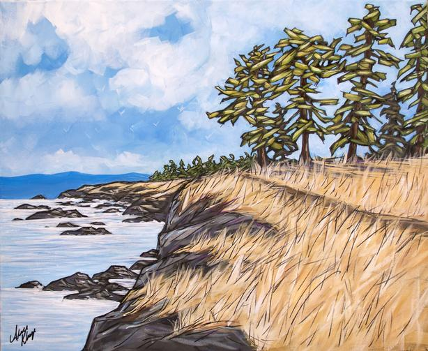 """Summer on South Pender"" - Brookes Point - Original Painting"
