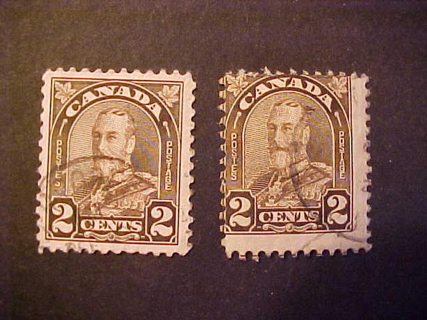 SCOTT 166 MISPERORATED KING GEORGE V