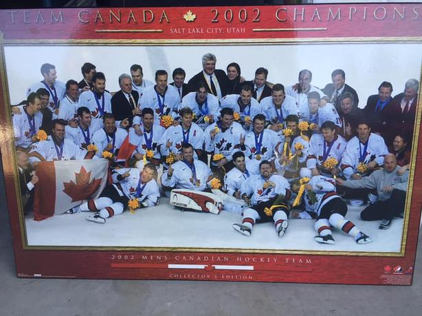 Team Canada 2002 Gold Medal poster