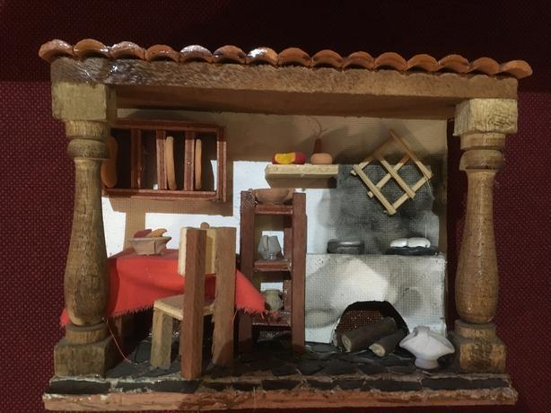 miniature dioramas folk art from Venezuela, 3 pieces