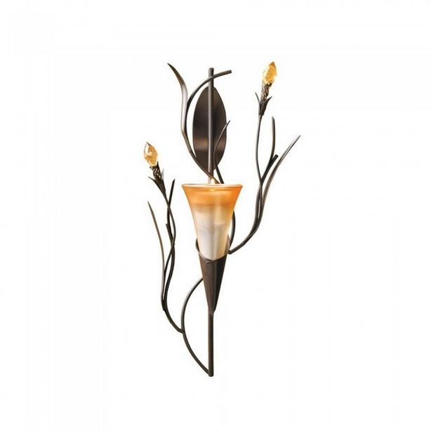 Lily Flower Candleholder Wall Sconce Set of 4 Brand New