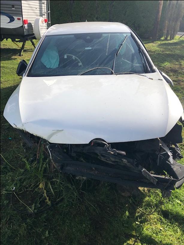 Smashed 2017 VW Golf - 4 Door