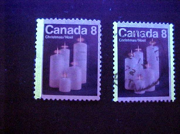 SCOTT 607 ONE BAR TAGGED CHRISTMAS STAMP