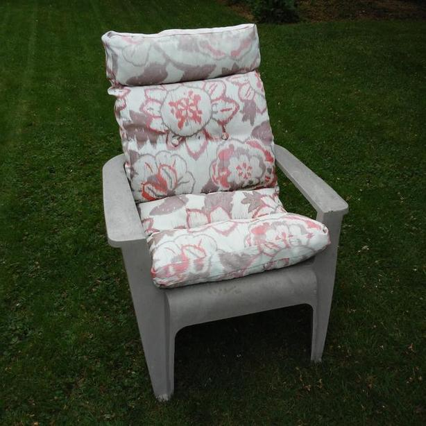 Resin Adirondack Chair and Super Comfy Cushion
