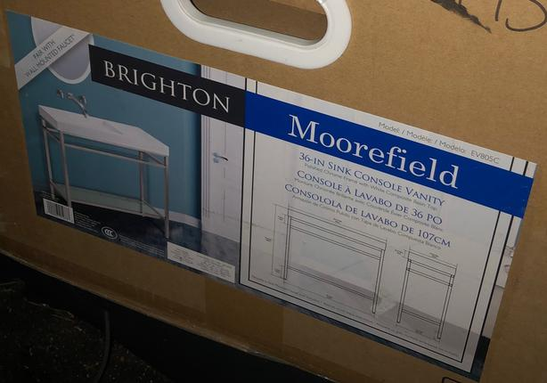 Brighton by Moorefield 36 Inch Sink Console Vanity - New