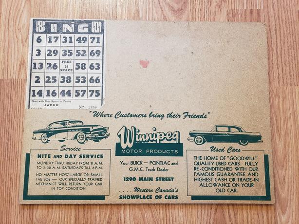 1955 Pontiac Buick Bingo Dealership Promo