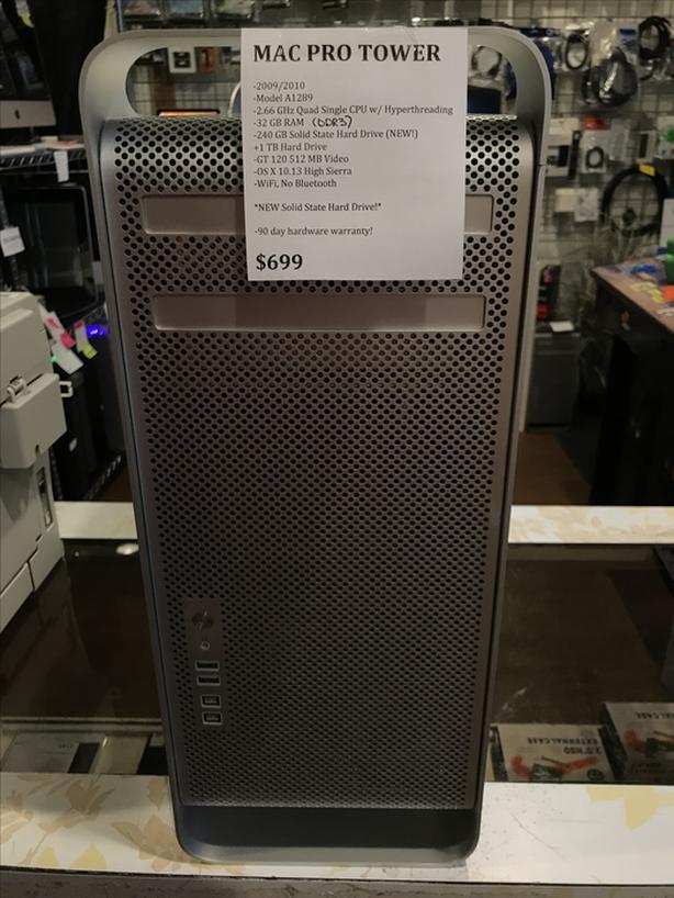Mac Pro Tower Quad w/ Hyperthreading 32GB RAM 240GB SSD + 1TB HD w/ Warranty!