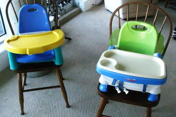 High chair boosters