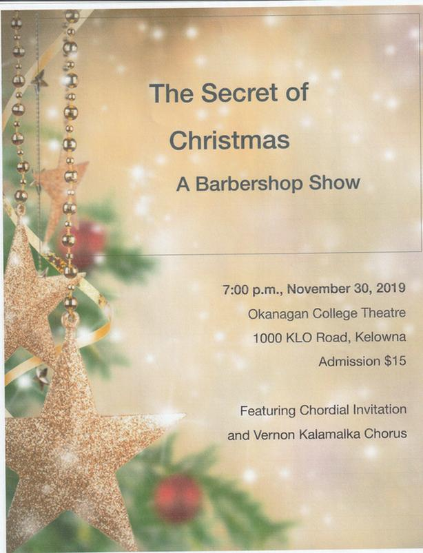 The Secret Of Christmas, A barbershop Show