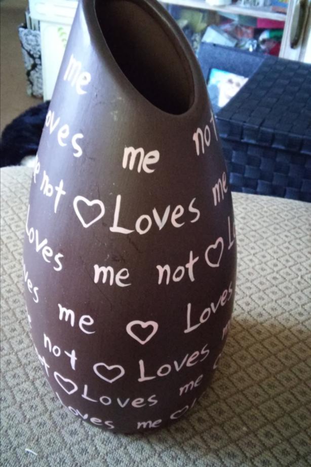 """""""Loves me...Loves Me Not"""" - Vase"""