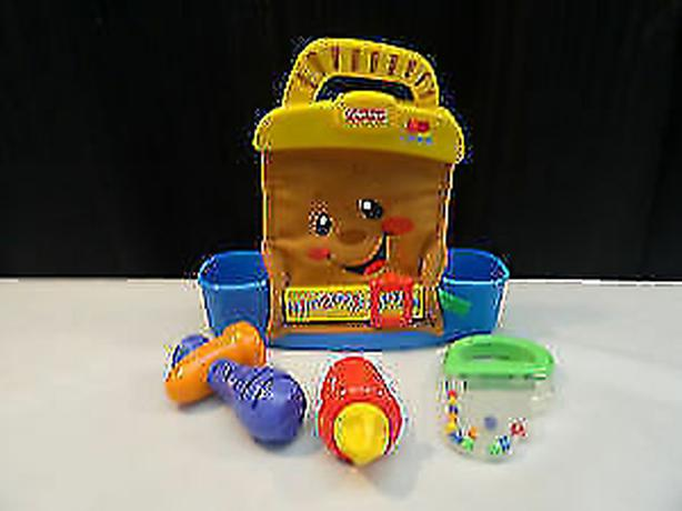 Fisher Price Talking Tool Box Bag Set W/ 3 Toy Tool Rattles