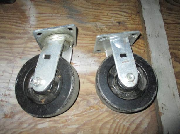 ** 2 CASTER wheels - Heavy Duty 5 or 6 inch ** $5 buys both
