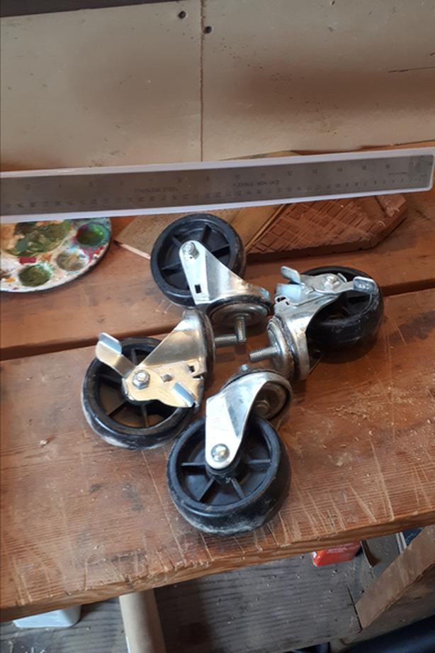 "set of 4 - 3"" castor wheels"