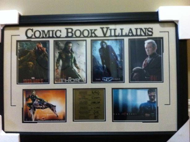 Comic Book Heroes and Comic Book Villains Wall Art