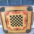 crokinole and checker board