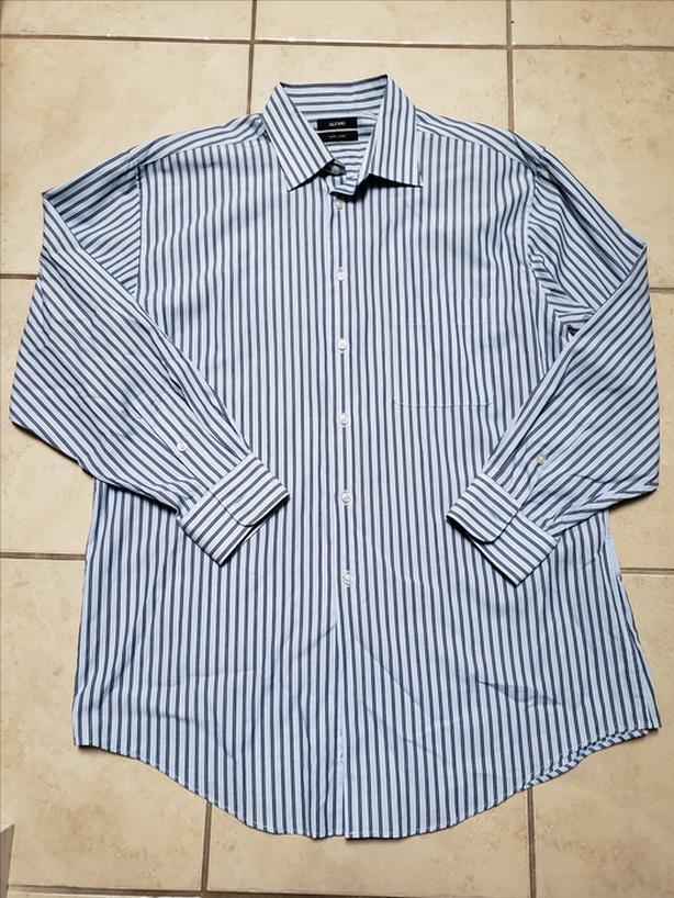 LikeNewHighQuality Men's LAFANI Long Sleeve Dress Shirt Size 16.5 100%Cotton