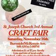 St. Joseph Church Craft Fair Saturday, Nov. 16
