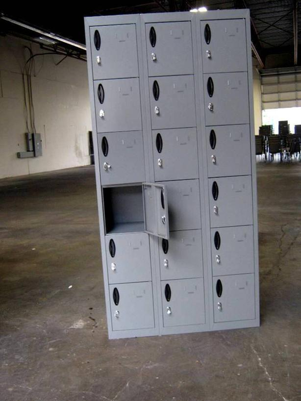 LOCKERS. STORAGE CABINETS, SHELVING