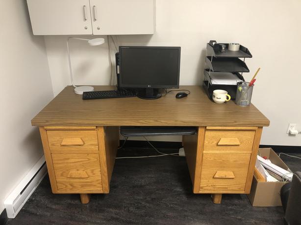 FREE - Solid Oak Desk