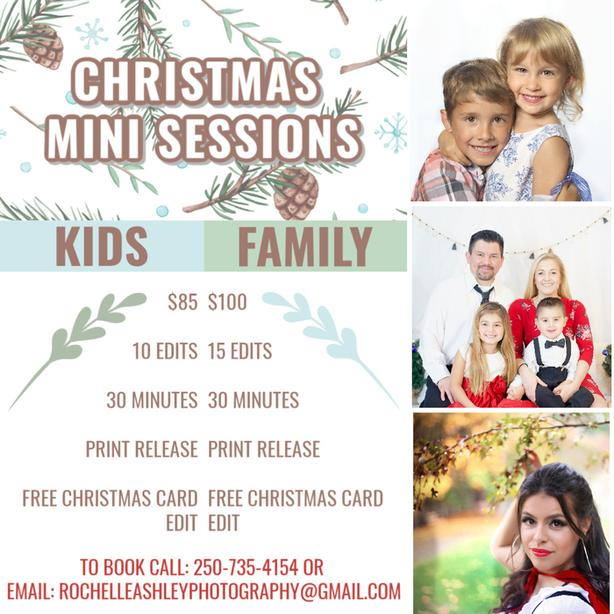 FREE Christmas Card with Photo Session