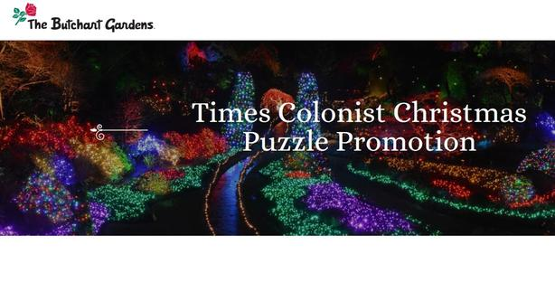 BUTCHART GARDENS TIMES COLONIST CHRISTMAS PUZZLE