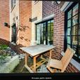 Teak extendable table and 8 chairs
