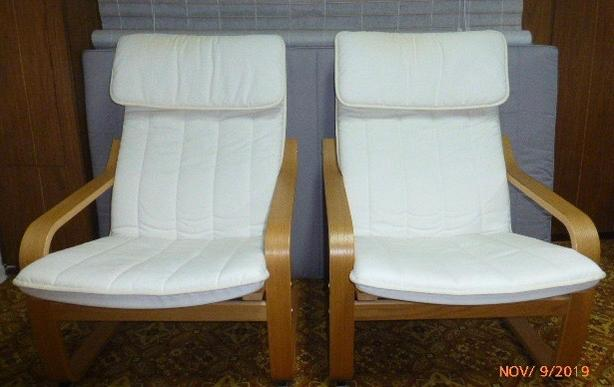 2 used IKEA armchairs for sale