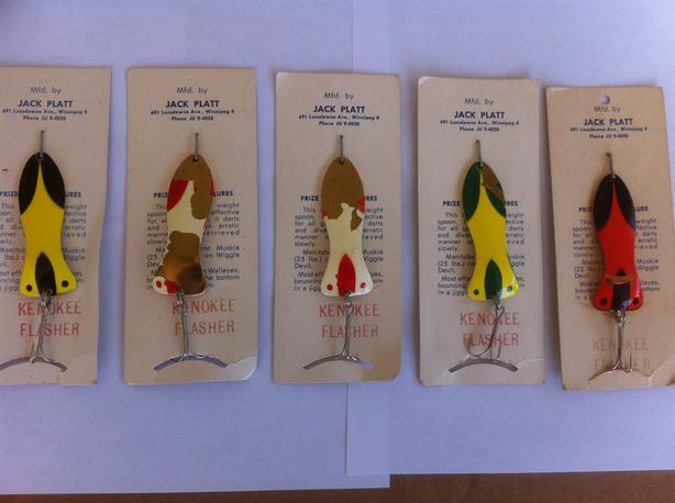 Jack Platt Fishing Lures-NEW -Winnipeg Made-1950's